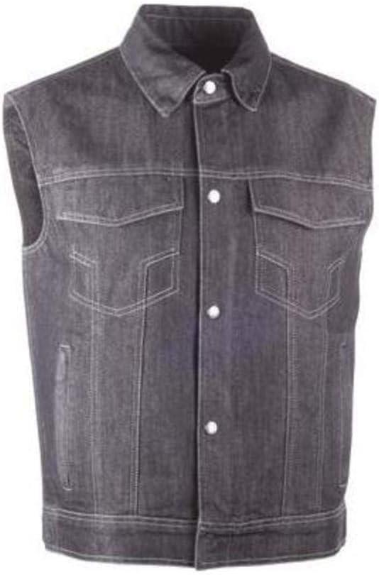 Highway 21 6049 489-10754 Traditional Collar Iron Sights Denim Vest (Black, Large)