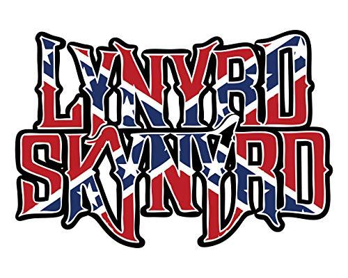 'Lynyrd Skynyrd'- Flag Wall Art- 8 x 10' Music Poster Print- Ready To Frame. Home-Studio-Bar-Man Cave Decor. Perfect Gift for Lynyrd Skynyrd Fans and Rock Music Lovers Alike!
