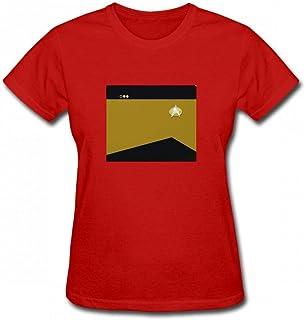トップス スタートレック:TNGゴールド中尉。 Women T-Shirt レディーズ Tシャツ