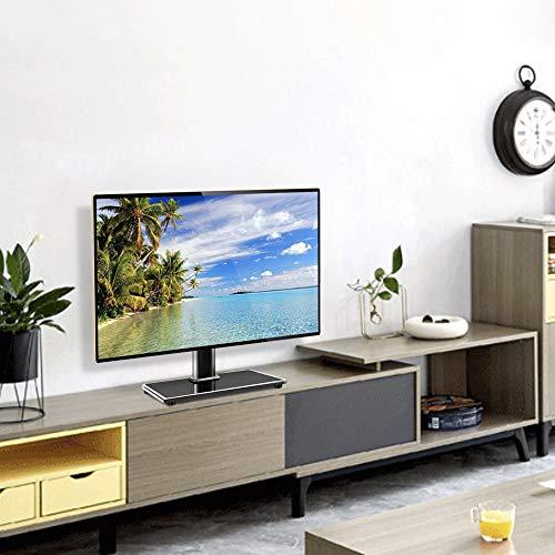 RFIVER Pied TV avec Support Universel sur Table Hauteur Réglage pour Téléviseurs Ecran LED LCD Plasma de 27 à 55 Pouces Noir UT4001