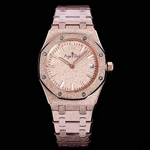 HHBB Marca de lujo mujeres reloj deporte zafiro mate acero inoxidable luminoso relojes oro rosa negro azul blanco Aaa+ 2