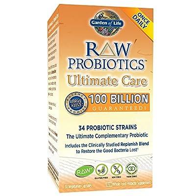 Garden of Life, RAW Probiotics, Ultimate Care, 30 Veggie Caps by Garden Of Life