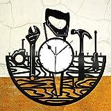 NIGU Dormitorio accesorios caja de regalo regalos de boda Reparación Trabajador Vinilo Reloj de Pared Registro Regalo Único para Amigos Decoración del Hogar Diseño Vintage Oficina Bar Room Decoración