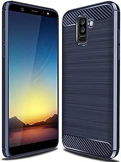 Galaxy A6 Plus 2018 Case, Galaxy A6+ 2018 Case, Cruzerlite Carbon Fiber Shock Absorption Slim Case for Samsung Galaxy A6 Plus 2018 (Blue)