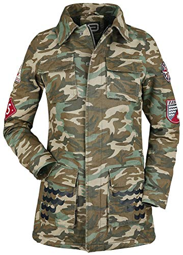 RED by EMP Ladies Parka Frauen Parka Camouflage L 100% Baumwolle Basics, Streetwear