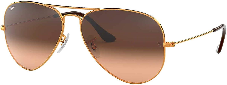 Ray-Ban Sunglasses Bronze Shiny Brown 58 Cheap bargain - Manufacturer OFFicial shop Non-Polarized Metal
