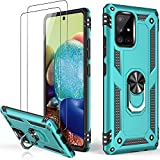 LUMARKE Galaxy A71 5G Case,Pass 16ft. Drop Tested Military Grade Cover with Magnetic Ring Kickstand Compatible with Car Mount Holder,Protective Phone Case for Samsung Galaxy A71 5G Teal
