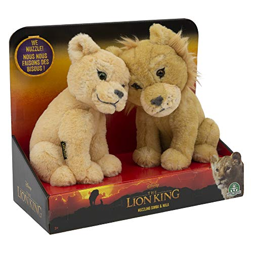 El Rey Leon- Action Peluche Touching Heads: Simba & Nala (