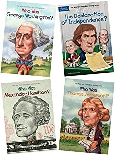 Who was alexander hamilton, thomas jefferson, george washington and declaration of independence 4 books collection set