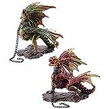 PUCKATOR Figura Decorativa de encadenado Oscuro Legends Dragon - (se envía 1)...