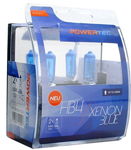 M-Tech ptzxbhb4 de Duo HB4 aspect xenon Ampoule halogène 51 W 12 V, bleu, Nombre 2