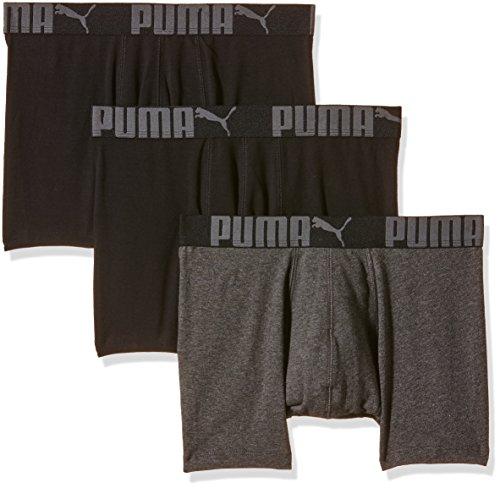 Puma Herren Boxershorts Cat 3er Pack, black/anthracite, S, 641380001