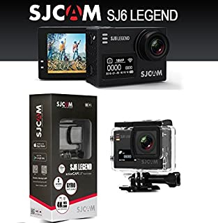 """SJCAM Legend SJ6 Sports Gyro Action Camera with 2"""" Dual LCD Touch Screen, 1080p Resolution, Black"""
