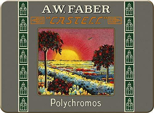 Faber Castell Edición Limitada 111º Aniversario – Lata de 12 lápices cortos de Polychromos Artists'