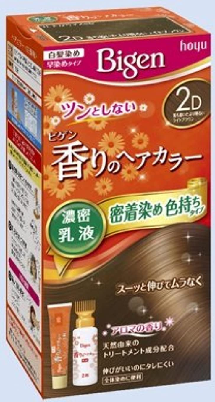 アメリカセラー入浴ビゲン 香りのヘアカラー 乳液 2D 落ち着いたより明るいライトブラウン × 10個セット