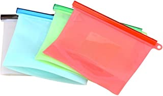 Reusable Silicone Food Storage Bag - Plastic ZipBag Alternative- Leakproof, Hygienic, Safe replacement of Sandwich Bags