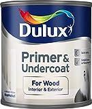 Dulux Primer & Undercoat for Wood 0,25 L - Tapaporos (Madera, Preparado, Al agua, Opaco, Cuarto de baño, Dormitorio, Habitación de los niños, Salón comedor, Pasillo, Oficina en casa, 16 m²/L)