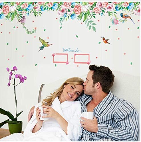 Nieuwe aanbieding 170 * 55 cm bloemen en vogels dierbaren foto's vinyl muursticker slaapkamer woonkamer decoratie aftrekplaatjes
