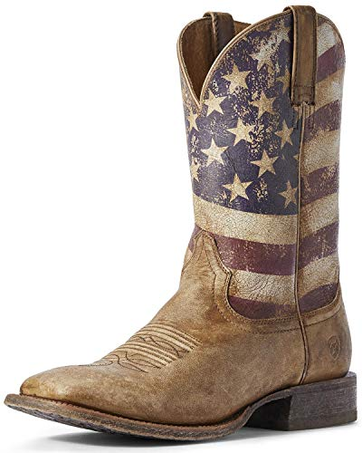 ARIAT Circuit Proud Naturally Distressed Brown/Distressed Flag 9 EE - Wide