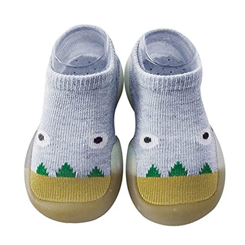 Calcetines de bebé con dibujos animados, para niños, niñas, zapatos para aprender a andar, zapatos de gateo, suelo suave, zapatos antideslizantes, zapatos de bebé, transpirables, amarillo, 26