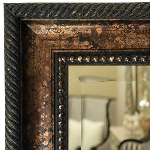 West Frames Santino Bathroom Vanity Rectangle Framed Wall Mirror (Bronze Black, 26.25