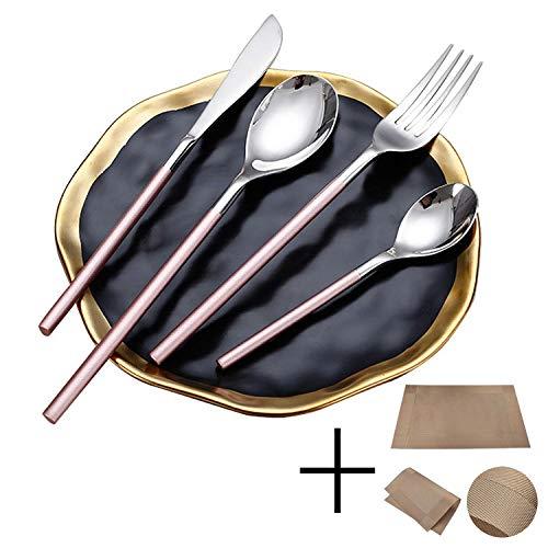24-teiliges Besteckset, Geschirr 304 Edelstahl Messer Gabel Löffel Family Set für Geschirrset für Themenrestaurants/Hochzeiten