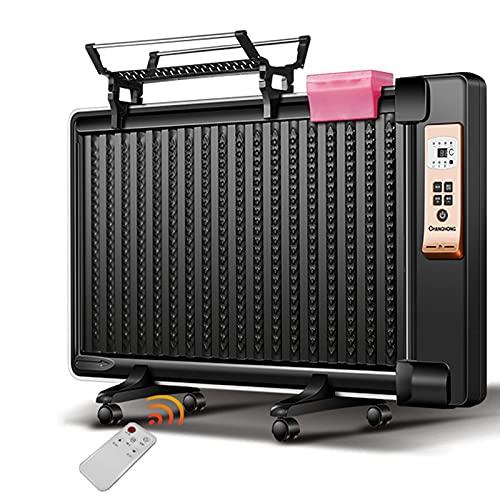 GuoEY Radiador de Panel Lleno de Aceite de 1800 W, eléctrico portátil con Pantalla LED, calefacción eficiente con Control Remoto, Temporizador Incorporado, Delgado y Delgado, 3 configuraciones de