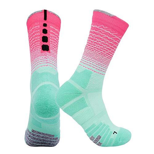 Qivor 7 Pares Nuevos Calcetines de Baloncesto de la élite respirador Montando Calcetines de Deportes al Aire Libre de la Toalla de algodón.