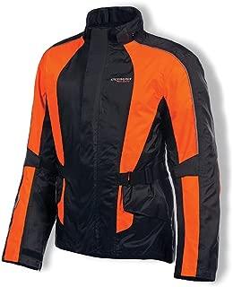 Olympia Moto Sports MJ415 New Horizon Rain Jacket (Black/Neon Orange, Medium/Large)