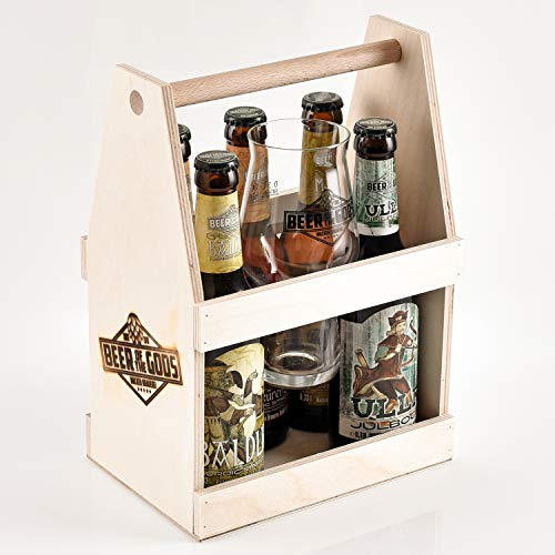 WACKEN BRAUEREI Craft Beer Tasting Geschenkset 5 x 0,33 l verschiedene Sorten + Bierglas BEER OF THE GODS | Eine Handvoll Götter | Viking Craftbeer Set Gift for Men | Wikinger Geschenk Männer - 2