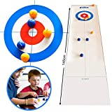 YMSM Be Good Mind Tabletop Curling Game,Family Fun Board Games,Portable Mini Tabletop Games for Family/School/Travel