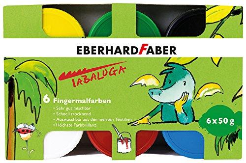 Eberhard Faber 578605 - Fingerfarbe Tabaluga, 6 Farbtöpfe (6X50g)