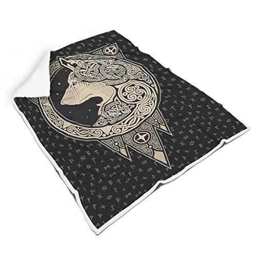Gaolucky Viking Wolf - Silla ligera y suave para todas las personas, estilo familiar, color blanco, 130 x 150 cm