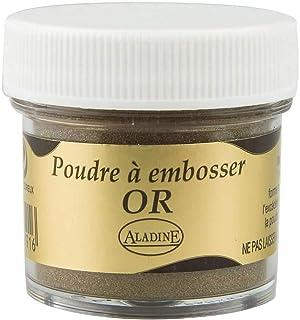 Aladine - Poudre à Embosser Izink Gold - Embossing - Effet Volume 3D pour Scrapbooking et Carterie Créative - Scrap en Rel...