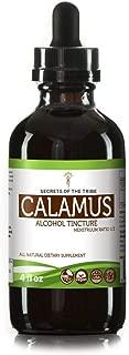 Calamus Alcohol Liquid Extract, Organic Calamus (Acorus Calamus) Dried Root Tincture Supplement (4 FL OZ)