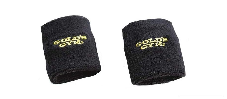 惨めなヘルパー形状ゴールドジム(GOLD'S GYM) リストバンド G3531 黒 フリーサイズ