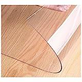 Copri Scrivania, Tovaglie Plastica Rettangolare,Copertura Protettiva Trasparente per Tavolo, PVC Tovaglia Plastificata,per Tappetino da Scrivania (Color:2mm,Size: 85x130cm)