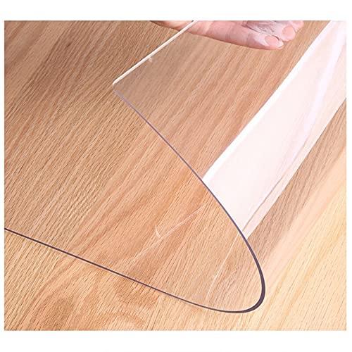 Copri Scrivania, Tovaglie Plastica Rettangolare,Copertura Protettiva Trasparente per Tavolo, PVC Tovaglia Plastificata,per Tappetino da Scrivania (Color:2mm,Size: 105x190cm)