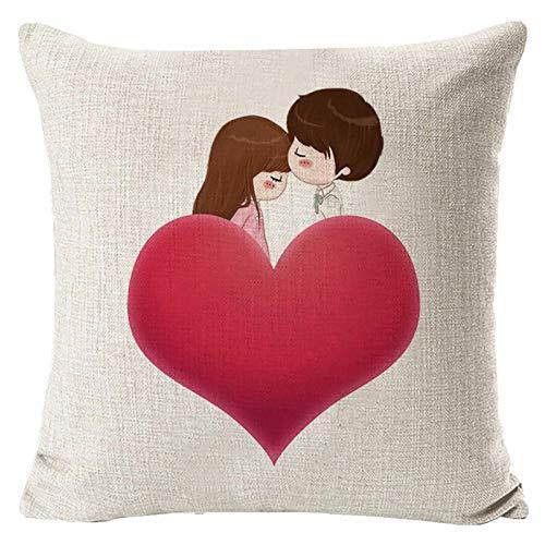 Janly Clearance Sale Funda de almohada, para el día de San Valentín, funda de almohada decorativa, funda de almohada creativa, para Navidad, hogar y jardín, (F)
