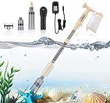 bedee Aspirateur pour aquarium - 5 en 1 - Kit de nettoyage électrique pour aquarium - Pour algues, graviers, débris - Changement d'eau - Accessoires d'aquarium (150 cm)