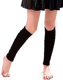 Women's Cable Knit Leg Warmers Knitted Crochet Long Socks by Super Z Outlet
