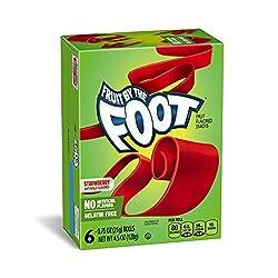 Betty Crocker Fruit Snacks, Fruit by the Foot, Strawberry, 6 Rolls, 0.75 oz Each