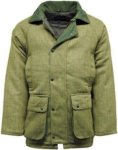 para Hombre JACK & Woods Warwick Tweed Perchero de Pared de Chaqueta Shooting   luz Sage Tweed Caza Chaqueta de Lana