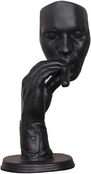 Huachi Modern Abstract Man Sculpture Male Statue Resin Handicraft Home Decoration Accessories Black