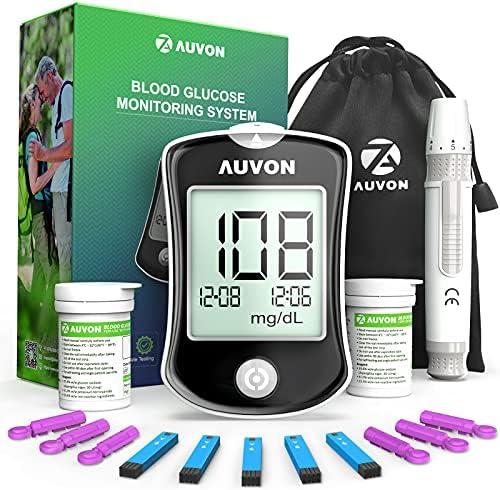 AUVON DS-W Blood Sugar Test Kit (100 Test Strips,...