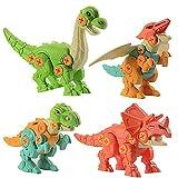 WSZMD Juguetes De Modelo De Dinosaurio Montado, 4 En 1 Juguetes De Dinosaurios Ensamblados De Bricolaje con Destornillador Dinosaur Modelo De Juguete,4 Pieces