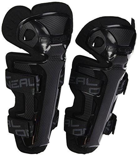 O'NEAL | Ellbogenprotektor | Motocross Enduro | Bequemer Schienbeinschutz, Robuste Plastikschalen, elastische Velcro®-Klettbänder | Pro II RL Carbon Look Knee Cups | Erwachsene | Schwarz | One Size