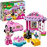 LEGO 10873 DUPLO Disney Junior Minnie's Birthday Party Disney's Minnie Mouse Set with Cat Figure, Toy Car, Cake, and Large Number Bricks, Preschool Education Toy for Kids Age 2-5