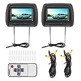 Car Player Kopfstütze Display-2pcs 7 in Wireless Control Einstellbares LCD-Video USB MP5...