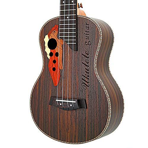 MTSBW Ukulele de 26 Pulgadas, Ukulele Tenor de UVA Agujero de Sonidos, la Guitarra de 4 Cuerdas Palo de Rosa Ukelele Set, 67cm, marrón Oscuro